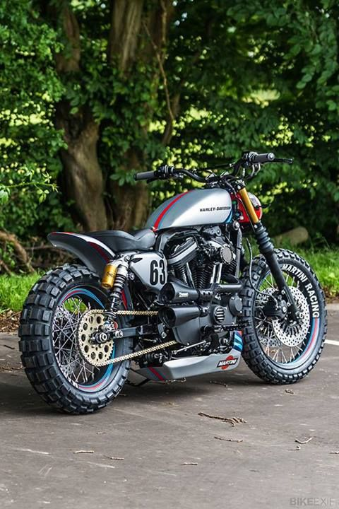 Cool and custom Harley Davidson #motorbike #harley #custom badass custom motorcycles — choppers, cycles, Harley, modified
