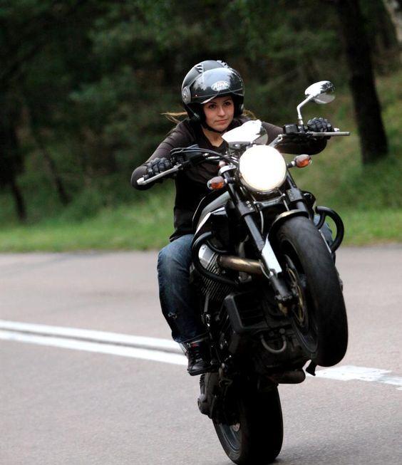 Cool girl on a cool bike