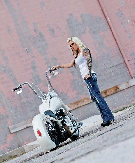 custom blonde custom bike