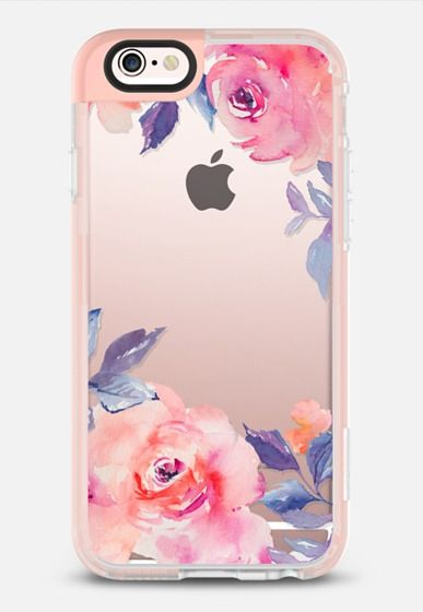 Cute Watercolor Flowers Purples + Blues iPhone 6s case by Angie Makes | @Casetify