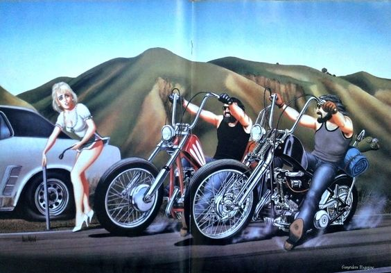 DAVID MANN Harley Davidson Motorcycle Art