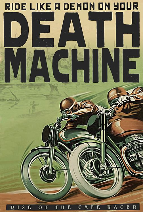 Death Machine - Dual Riders Cafe Racer #graphicdesign |