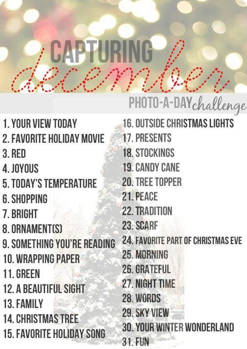 December Photo  Something like this would be fun for every month!