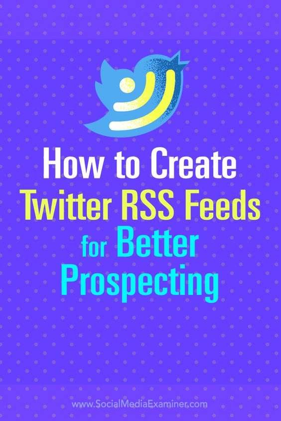 Do you use Twitter to find prospects?  You can use your favorite RSS reader to monitor customized Twitter searches, Twitter lists, and hashtags that relate to your business.  In this article, you'll discover how to set up RSS feeds to easily monitor and manage a steady flow of Twitter leads. Via @Social Media Examiner.
