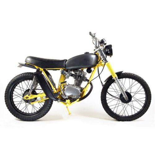 dropmoto: Short and sweet. 1973 Honda SL125 from @ dropmoto: Short and sweet. 1973 Honda SL125 from @muffcustoms. #honda #sl125 #surftracker #streettracker #brattracker #bratstyle #dropmoto #caferacerxxx