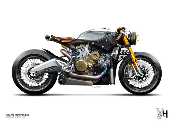 Ducati 1199 Panigale Cafe Racer by Holographic Hammer #Ducati