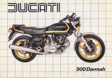 DUCATI 900 DARMAH '81 DEPLIANT