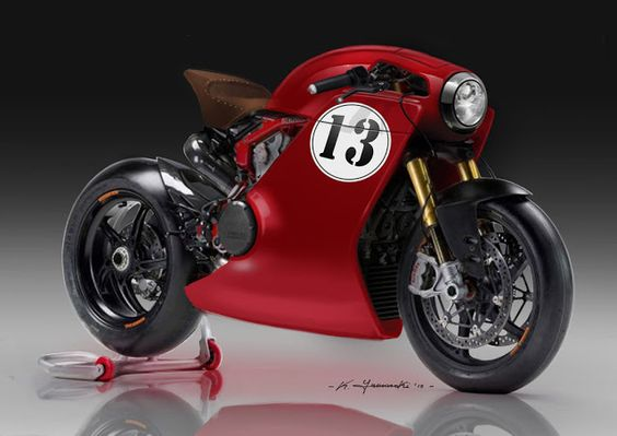 Ducati Cafe Racer Design by Kenyamasaki #motorcycles #caferacer #motos |