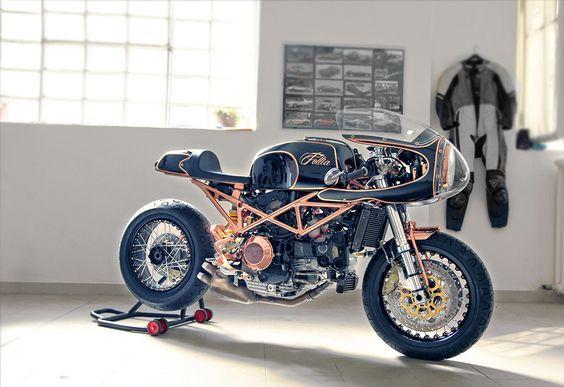 Ducati Cafe Racer #motorcycles #caferacer #motos |