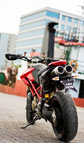 Ducati Hypermotard 1100s - stock photo