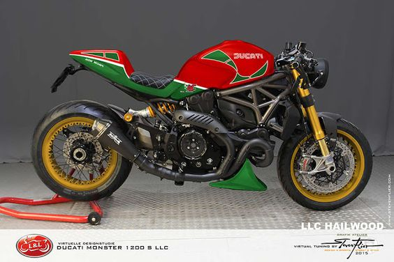 Ducati Monster 1200 S LLC Cafe Racer by GRAFIK ATELIER STEVEN FLIER #motorcyclesdesign #diseñodemotos |
