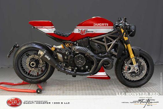 Ducati Monster 1200 S LLC Cafe Racer by GRAFIK ATELIER STEVEN FLIER |