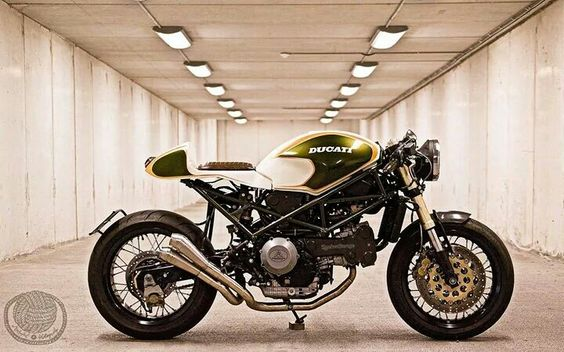 Ducati Monster Green Machine Cafe Racer #motorcycles #caferacer #motos |