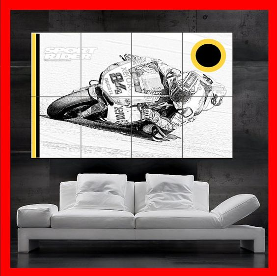 Ducati Motorcycle Bike Race Poster print wall by KashmirPosters