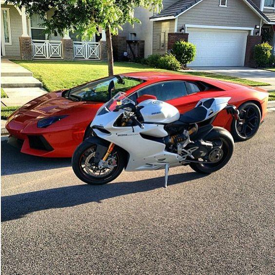 Ducati Panigale 1199 + Lamborghini Aventador