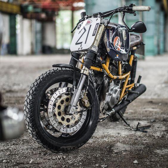 Ducati Pantah 500 Street Tracker - Hermann Köpf #motorcycles #StreetTracker #motos |