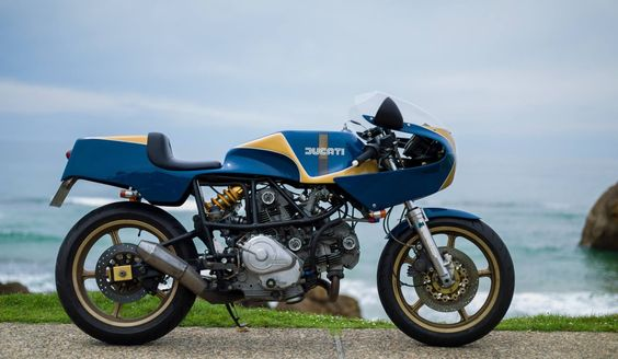 Ducati Pantah Cafe Racer - Switch Stance Riding - Photo by Marc Holstein Photography #motorcycles #caferacer #motos |