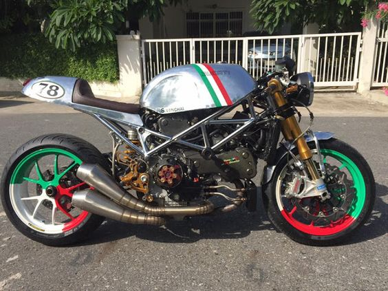 Ducati S4R Cafe Racer by Triple555 #motorcycles #caferacer #motos  