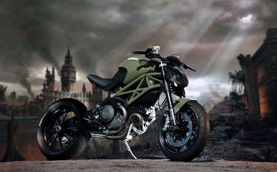 Dusty Wheels Racers : Post-atomic Ducati Monster!!