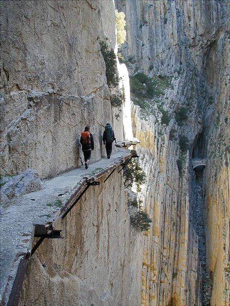 El Camino del Rey (King's Pathway,) Malaga, Spain