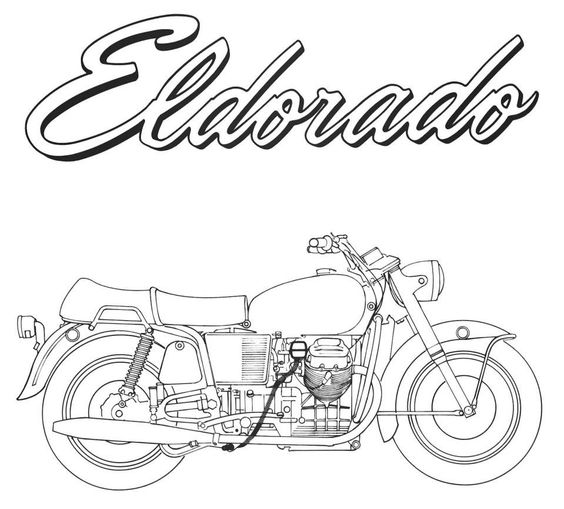 Eldorado #moto #guzzi #motoguzzi #california #history #motorbike #motorcycle