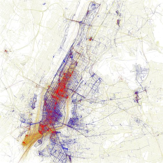 Eric Fischer's amazing locals vs tourists geotagging maps - perfect example of using data to bring ideas to life
