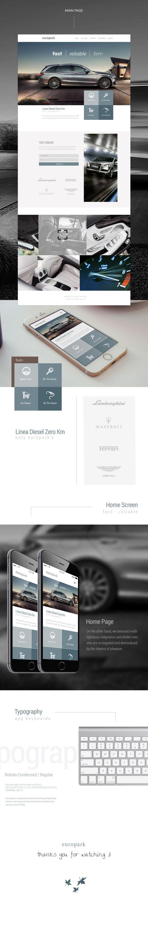 EuroPark Rent a Car Website Design / UI UX on Behance