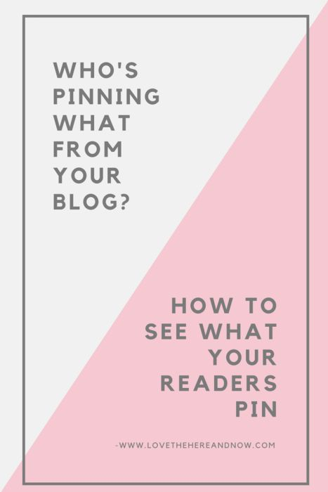 Find Out Who's Pinning From Your Blog.