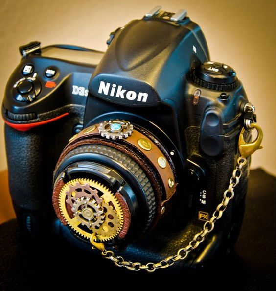 First CameraPunk™ !! Transform your camera into an eccentric piece of art that truly represents YOU! Decorative Lens caps, Leather Cuffs & Camera Straps =)