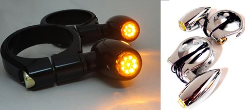 Fork Mount Astro LED Motorcycle Turn Signals
