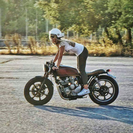 Freedom on Two Wheels #caferacergirl |
