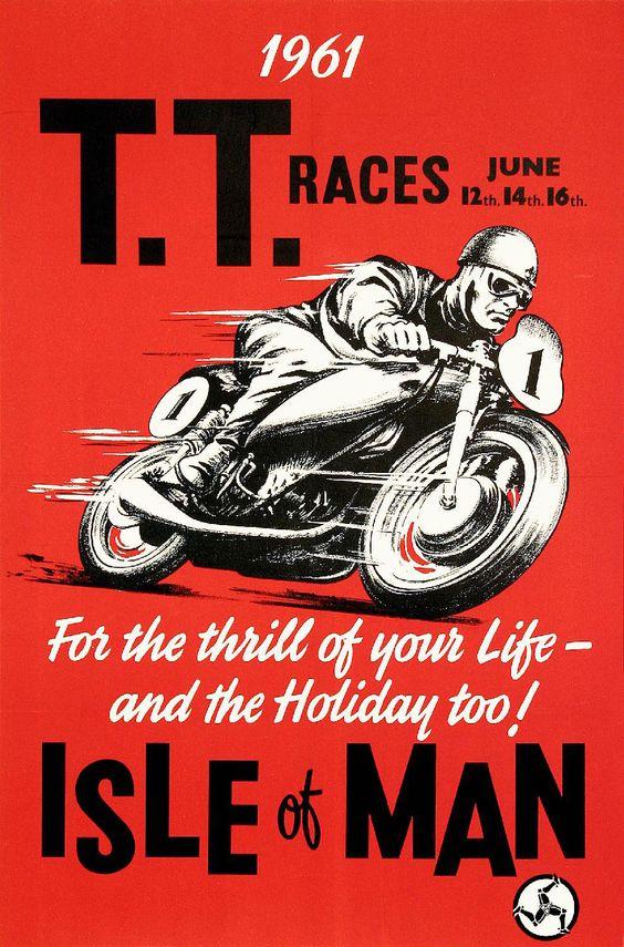 Gallery  Vintage Posters  Sports  Isle of Man - TT Motorcycle Races