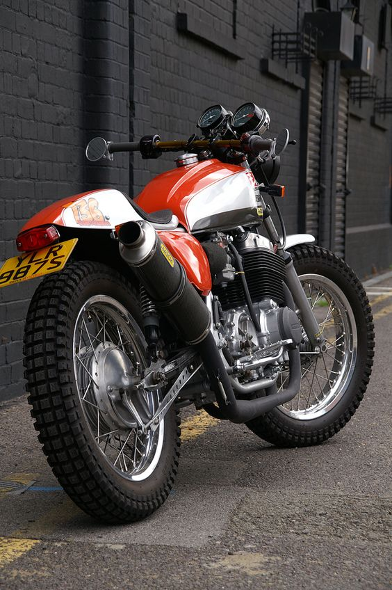 Garage Project Motorcycles - Steve Lowe's Honda CB750 K7 urban scrambler ...  #Honda #HondaCivic #HondaCars
