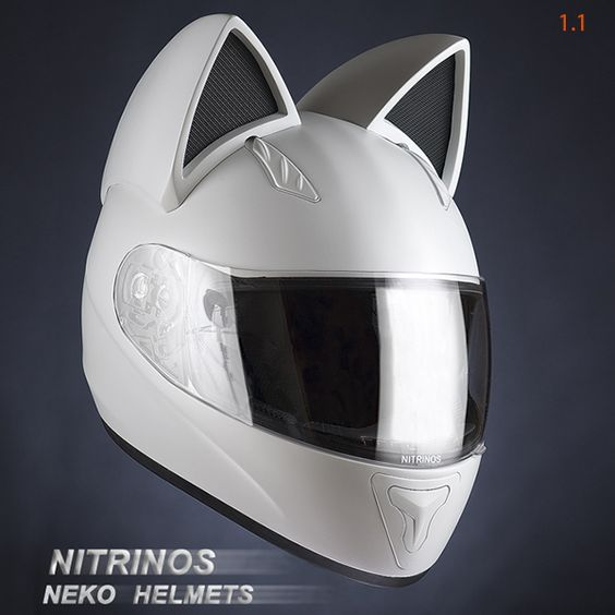Get your motor purring and head out on the highway with one of these custom cat-themed motorcycle helmets.