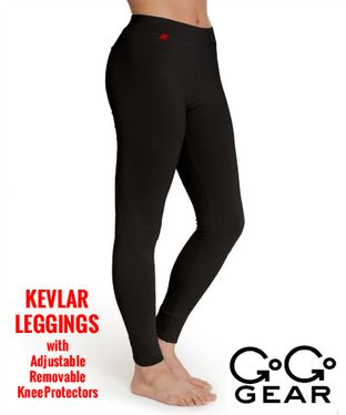 GoGo Gear Kevlar Leggings (including removable, adjustable knee protector pads)