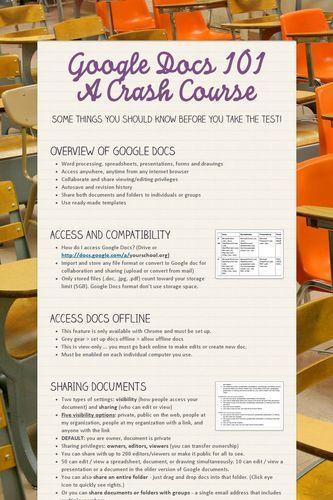 Google Docs 101 A Crash Course