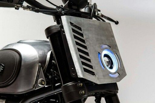 Great flat scrambler led headlight