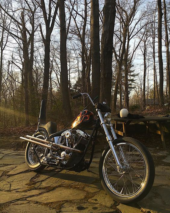 "grumpyjay: ""scot520: ""Spring fever setting in real good. "" "" Shovelhead chopper"