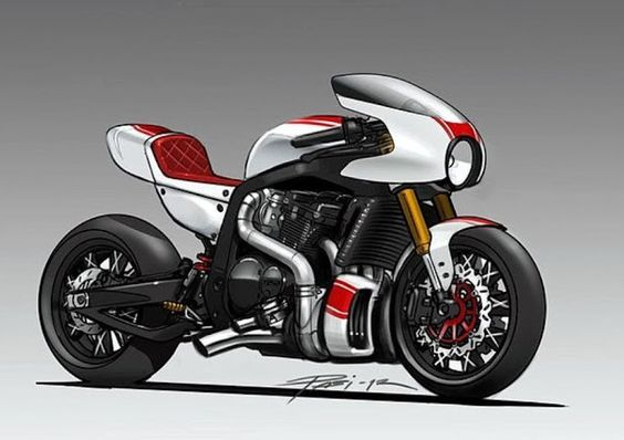 Gsxr concept - The modern cafe racer.