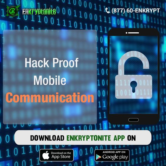 Hack-proof mobile communications with military-grade encryption technology is possible with EnKryptonite message encoding app.