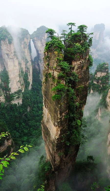 Hallelujah Mountains - Zhangjiajie National Forest Park, China. Se parece a la montaña de la película