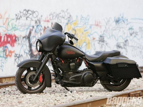 Harley-Davidson Street Glide - Couldn't get any more  what I want one day. Chrome is overrated
