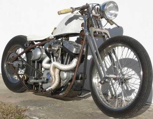 Harley Sportster Bobber › white classic Harley Bobbers Motorcycle