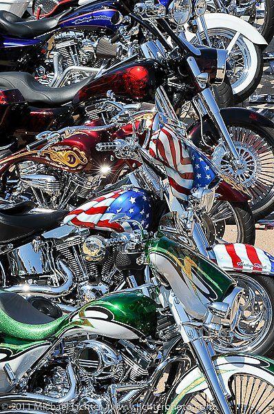 Harleys, the American way.