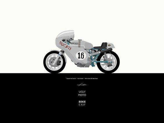 Here's a treat for readers of Bike EXIF: a set of beautifully illustrated motorcycle wallpapers, featuring classic race bikes. This one is the legendary Paul Smart Ducati. Download the high resolution at