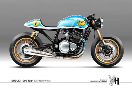 Holographic Hammer #Suzuki 1200 Tzar // S383 Motorcycles