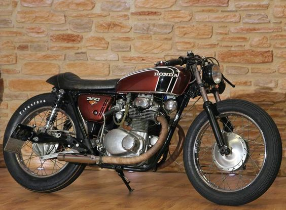 Honda CB 350 K4 Cafe Racer by Klassikkustoms #motorcycles #caferacer #motos |