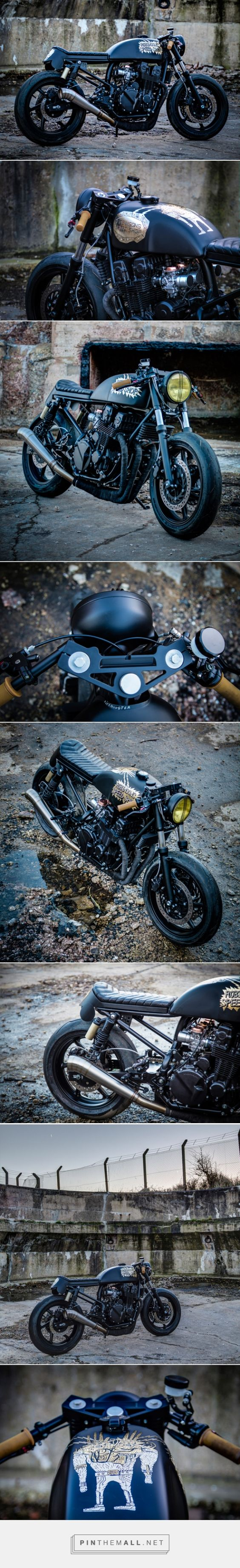 Honda CB 750 custom painted by Maxwell Paternoster, AKA Corpses from Hell. Click to read the story