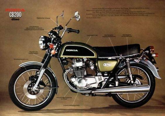 Honda CB200.