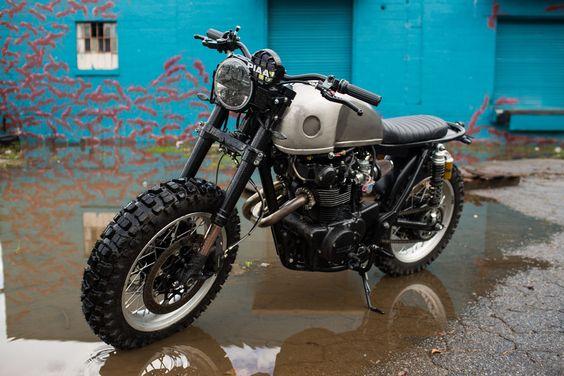 "Honda CB450 1972 Scrambler ""Little Badger"" by Brother moto #motorcycles #scrambler #motos  "